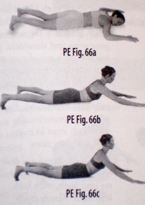 Extension with arm push
