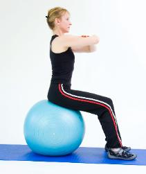 do not let the pelvic movement affect the posture of the chest and upper body